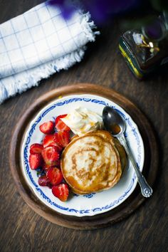 Lemon & Poppyseed Pancakes with Strawberries & Vanilla Mascarpone | DonalSkehan.com