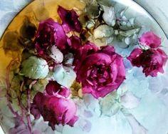 China painted roses...