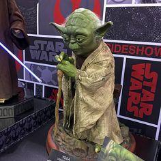 Yoda sculpture at Star Wars Celebration 2015 in Anaheim, California. #hitpictures #filmfetish #starwars #myfantasyart