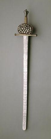 Frederik den Tredjes kroningssværd. Et sværd var ikke kun et våben til at forsvare sig med, men også et symbol på magt og stand.