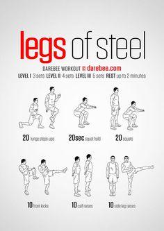 Legs Of Steel - Darebee Workout