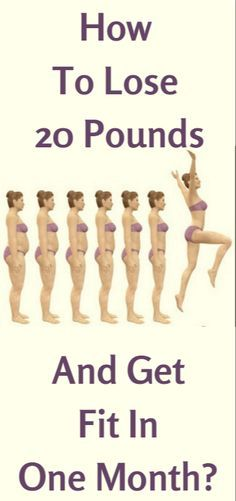 How To Lose 20 Pounds And Get Fit In A Month?