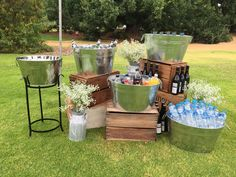 DRINKS STATION | Perfect idea for an outdoor wedding | Wedding decor | Wedding styling