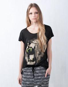 Hayvan baskılı t-shirt favorim
