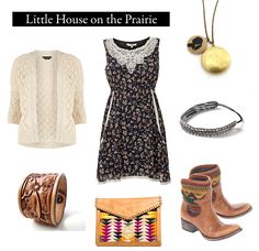 "Great Article! Outfits inspired by literature! Outfit inspired by Laura Ingalls Wilder's ""Little House on the Prairie."""