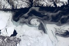 Canada, frozen patterns from space