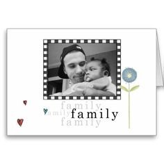 Frame, Hearts & Flower Photo Baby Announcement Card! For more visit http://www.zazzle.com/baby+gifts?rf=238308729910790362