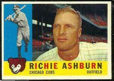 1960 Topps Baseball Cards   1960 Topps #305 Richie Ashburn [#b] (Cubs) Baseball cards value