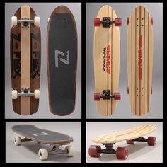 Ré-editions Z-flex #skateboards et Sims Skateboards avec quelques pièces rares comme La ZVP Warptail, des skid plates, la ZBullet, la EricNash Bandido...