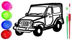 Rainbow Jeep Warna Warni Belajar Menggambar Dan Mewarnai Untuk Anak