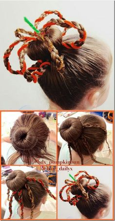 I'm a Christian wife & homeschooling mom of I'm passionate about helping girls feel good about themselves through cute hairstyles! I post tutorials for al. Easy Bun Hairstyles, Creative Hairstyles, Down Hairstyles, Halloween Hairstyles, Medium Hair Styles, Short Hair Styles, Little Girl Hairdos, Crazy Hair Days, Hair Videos