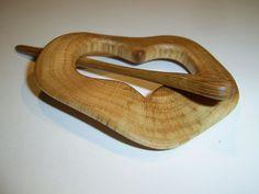 Oak Wood Shawl Pin Set by ingute