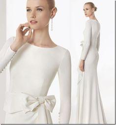 Rosa Clara 2013 borgonya long sleeve sheath wedding dress