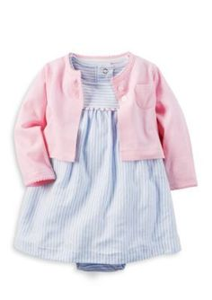 Carters Blue 2-Piece Dress and Cardigan Set