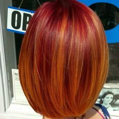 Trendy Hair Color Flamboyage Natural 61 Ideas - New Site Trendy Hairstyles, Bob Hairstyles, Curly Hair Styles, Natural Hair Styles, Dyed Natural Hair, Red Hair Color, Copper Hair Colors, Copper Color, Super Hair