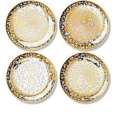 Gold Leopard Appetizer Plates