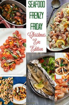 Celebrate Christmas Eve the Italian way with these 20 delicious seafood recipes for Seafood Frenzy Friday: Christmas Eve Edition. Seafood Recipe For Christmas, Christmas Eve Appetizers, Christmas Dinner Menu, Christmas Recipes, Holiday Recipes, Best Seafood Recipes, Shellfish Recipes, Carrie, Italian Christmas