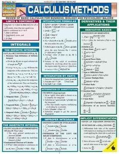 Basic Calculus Formulas including the definite integral, improper integrals, integration techniques, and all the derivative rules. Calculus Notes, Calculus 2, Math Notes, Statistics Math, Engineering Science, Chemical Engineering, Electrical Engineering, Psychology Major, Math Formulas