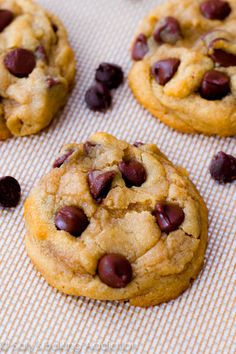 Soft-Baked Chocolate Chip Cookies. Cornstarch is the secret ingredient to making these cookies so darn perfect!