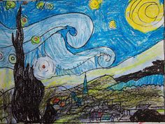 Starry Night art and writing idea