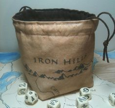 Middle Earth Map Dice Bag by greyedout on Etsy