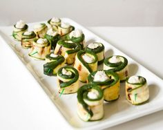 grilled zucchini cheese roll-ups