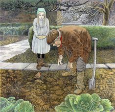 from The Secret Garden by Frances Hodgson Burnett, illustrated by Inga Moore