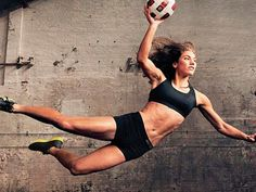 Hope Solo- uhh to have her muscles!