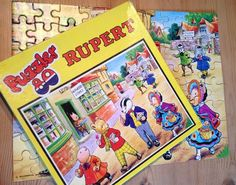 Vintage RUPERT THE BEAR 80 Piece Jigsaw Puzzle - At the Shops 01307