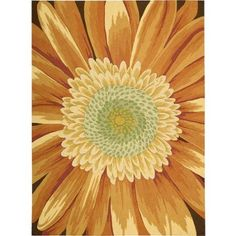 $289 Nourison Fantasy Floral Images Sunflower Area Rug - Walmart.com priced at $289 for an 8x10.6