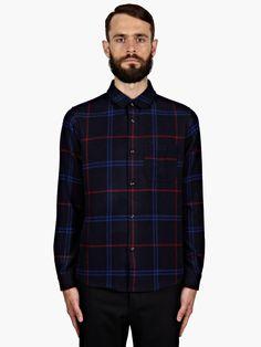 A.P.C. Men's Hunter Checked Flannel Wool Shirt | oki-ni