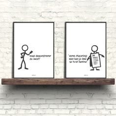Stickmen Oprør Quotations, Qoutes, Stick Man, One Liner, Good Jokes, New Art, Art Projects, Diy And Crafts, Wall Art