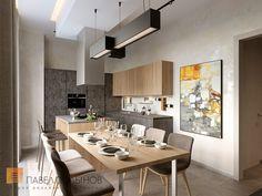 Фото кухня-столовая из проекта «Дизайн двухкомнатной квартиры 80 кв.м. в современном стиле, ЖК «Duderhof Club»»