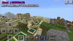 Minecraft Pocket edition Village Seed: 1405058635 You will spawn right in the middle of a sand village with a blacksmith. Attached to this sand village is a double 'normal' village with another blacksmith – check it out! MCPE Minecraft PE
