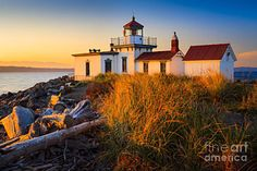 Western Photograph - West Point Lighthouse by Inge Johnsson