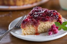 Cranberry Upside-Down Cake - so light and delicious your guests will want seconds!
