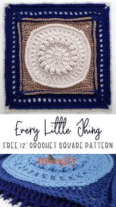 The Every Little Thing Square is a free crochet square pattern that I designed for the Red Heart Joy Creators Wedding Blanket Crochet Along! Get the pattern on Moogly! (It's also perfect for the MooglyCAL! Crochet Square Patterns, Crochet Blocks, Basic Crochet Stitches, Crochet Squares, Crochet Basics, Crochet Blanket Patterns, Crochet Motif, Free Crochet, Knitting Patterns