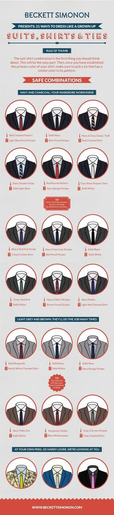 The Ultimate Suit Wearing Cheat Sheet Every Man Needs by harriet Fashion Mode, Look Fashion, Mens Fashion, Fashion Tips, Fashion Menswear, Fashion Ideas, Fashion Brand, Der Gentleman, Gentleman Style