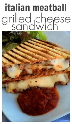 Italian Meatball Grilled Cheese Sandwich Recipe. This amazing recipe starts out in a crock pot and ends in between two slices of crusty bread, oozing with cheese.