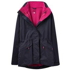 Joules Ladies Keswick Navy 3 in 1 Waterproof Jacket | Clothing |