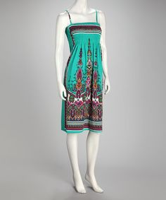 Take a look at this Sea Green Paisley Dress by India Boutique on #zulily today!