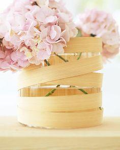 Helles Holz: Vase