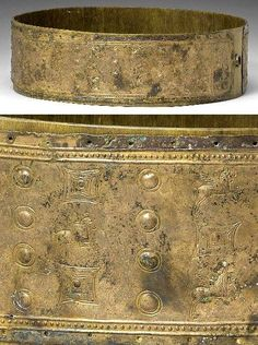Urartian Bronze Belt, Circa 8th-7th Century BC Urartu was also known as the biblical Kingdom of Ararat or Kingdom of Van. It was an Iron Age kingdom centered around Lake Van in the Armenian Highlands. The kingdom rose to power in the mid-9th century BC, but was conquered by the Medes in the early 6th century BC. Urartian belts, which are splendid specimens of their art, have been found in graves in Soviet Armenia and in the province of Kars.