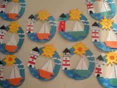 Best ocean art for kids crafts 31 ideas Boat Crafts, Ocean Crafts, Camping Crafts, Summer Crafts For Kids, Summer Art, Art For Kids, Summer Ideas, Sailboat Craft, Nautical Craft