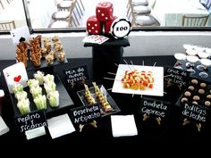 Yummy food at a Casino Party!   See more party ideas at CatchMyParty.com!  #casino #partyideas