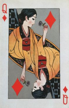 Fukiya Koji 蕗谷虹児 (1898-1979) Toranpu トランプ (Trump), postcard, 1924