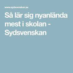 Så lär sig nyanlända mest i skolan - Sydsvenskan