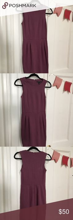 Banana Republic purple dress Business casual look, great for work. Could easily be dressed up or down. Flattering fit. Modest. Banana Republic Dresses