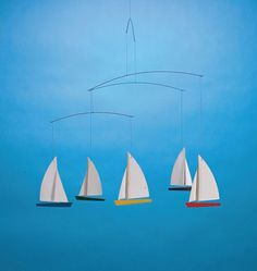 Regatta Mobile with 5 Sailboats