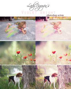 Violet Bright Photoshop Action by LadyNguyen